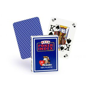 CARTES DE JEU Cartes Poker Index 100% plastique (bleu)