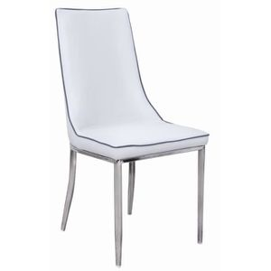 chaise blanche et gris achat vente chaise blanche et gris pas cher cdiscount. Black Bedroom Furniture Sets. Home Design Ideas