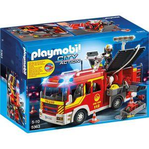 UNIVERS MINIATURE PLAYMOBIL 5363 - City Action - Fourgon de Pompiers