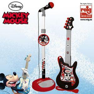 INSTRUMENT DE MUSIQUE MICKEY Guitare avec microphone - 4 cordes