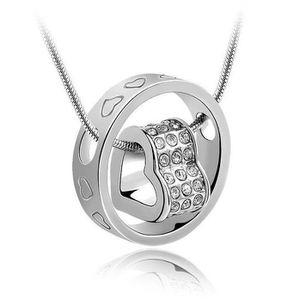 SAUTOIR ET COLLIER Femme Collier en Argent 925, Pendentif diamanté, L