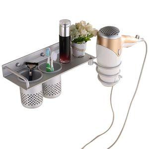 PORTE SECHE-CHEVEUX Support en aluminium de dessiccateur de cheveux de