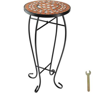 TABLE DE JARDIN  TECTAKE Table de Jardin, d'Appoint, de Balcon, de