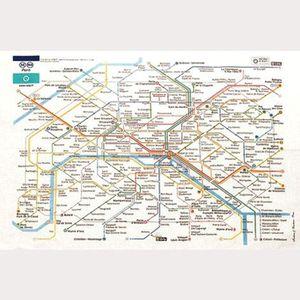 TORCHON - ESSUIE-MAIN Torchon de cuisine RATP - Plan de Paris
