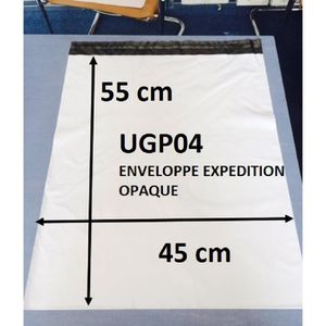 100 enveloppes d/'expédition plastique blanche opaque format standard A5 A4 A3