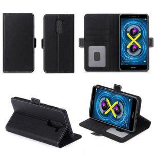 HOUSSE - ÉTUI Etui coque portefeuille Huawei Honor 6X noir avec