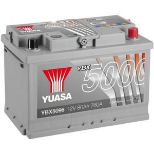 BATTERIE VÉHICULE YUASA Silver High Performance Batterie Auto 12V 80