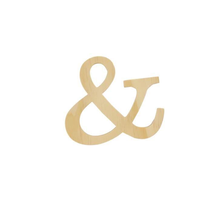 Alphabet en bois 11,5cm Sigle et - Artémio Beige