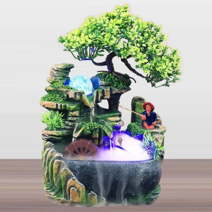 petite simulation résine rocaille cascade cascade feng shui fontaine décor à la maison