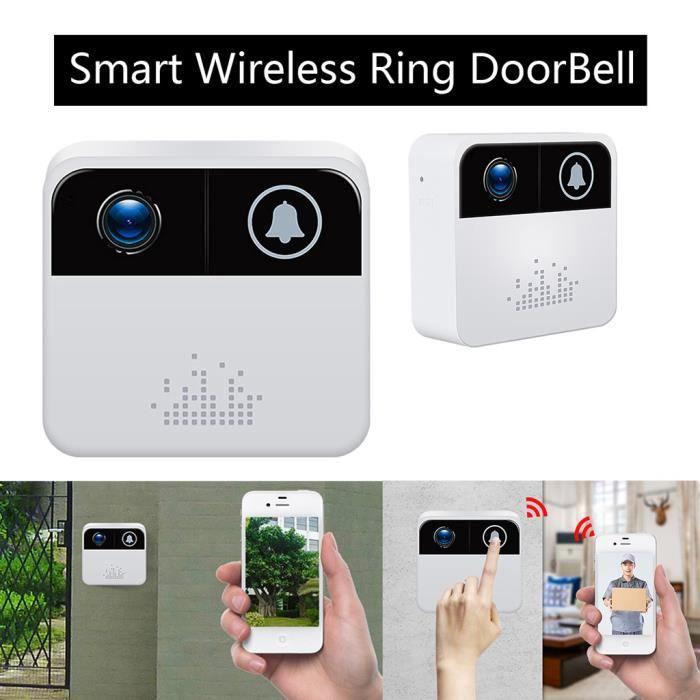 Smart Anneau Sonnette sans fil WiFi Caméra visuelle Phone Home Security Monitor f185