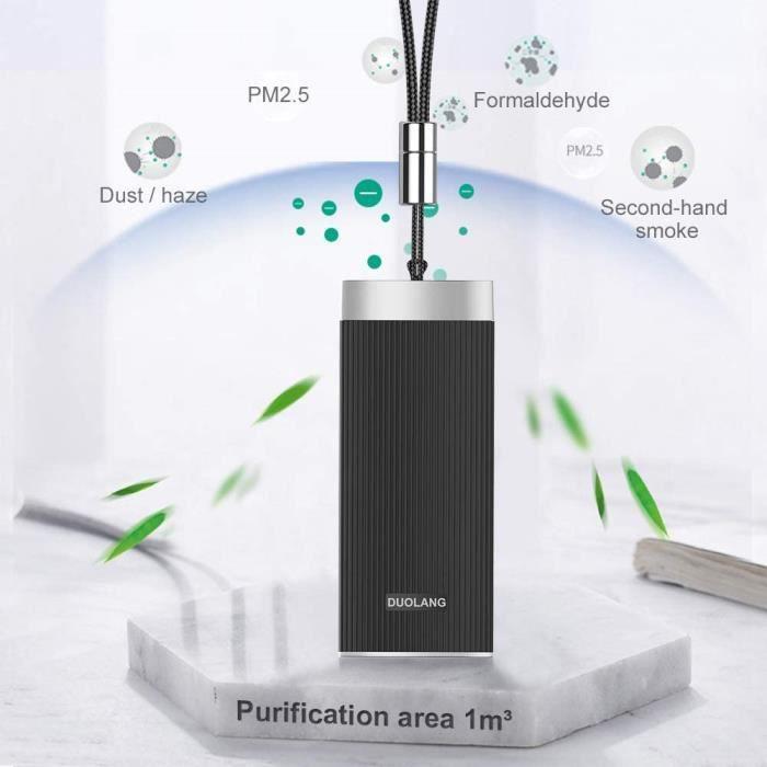 HUIDANGJIA Purificateur d'air portable,libéré 20 millions ions négatifs,2 hours Chargement,pour 16 hours,USB Loniseurs d'air Collier