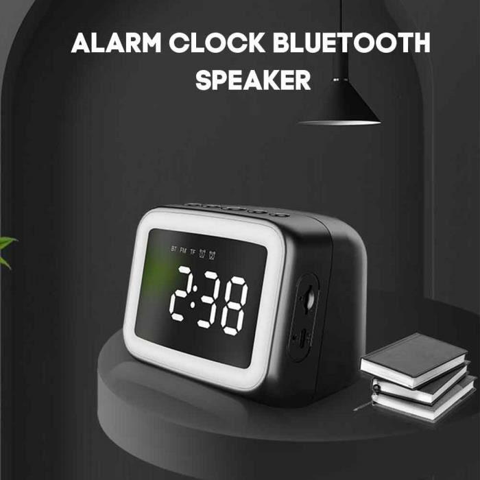 GLO FM Radio sans fil lecteur de musique Bluetooth haut-parleur chambre réveil LED miroir