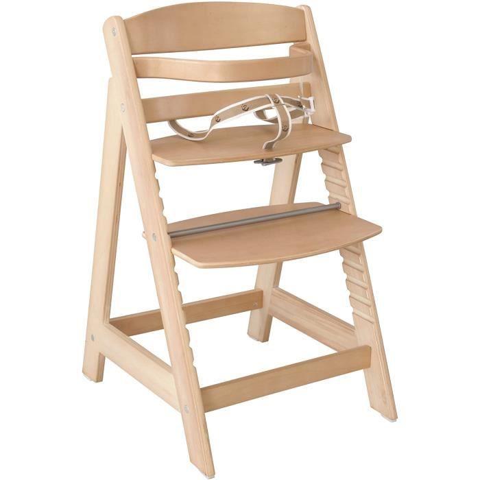 roba Chaise haute &eacutevolutive 'Sit Up III', en bois naturel, chaise haute qui suit la croissance de votre enfant, de chai25