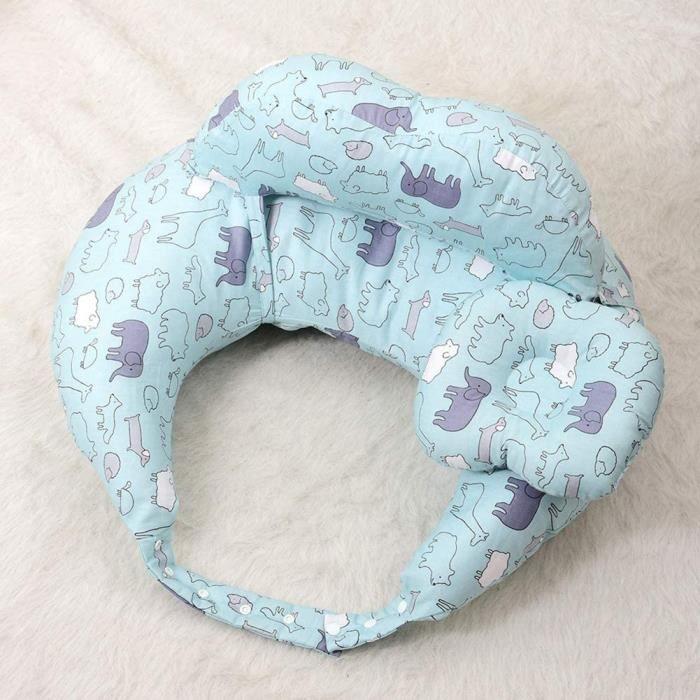 EOVL Coussin d'allaitement et Coussin de Grossesse pour Dormir Maternité Bebe,Taie 100% Coton Amovible et Lavable,D A336