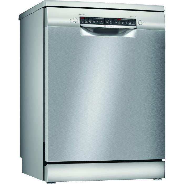 Lave-vaisselle pose libre BOSCH SMS4ETI14E - 12 couverts - L60cm - 44dB - Induction - Inox