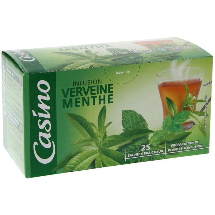 CASINO Infusion verveine menthe - 25 sachets - 35 g