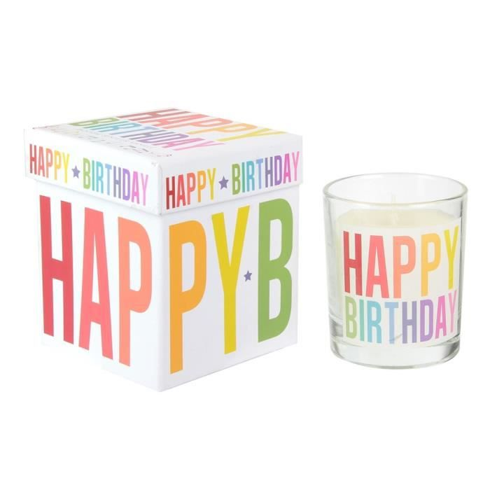 THE CANDLE FACTORY Bougie anniversaire musicale - Multicolore
