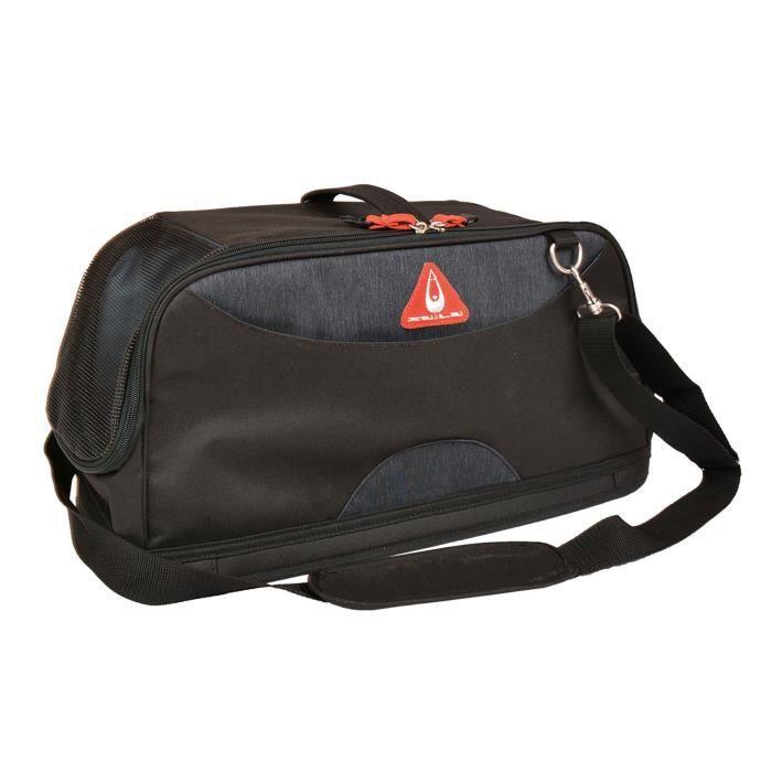 DUVO Sac de transport Promenade London Travel Bag Roady - 47x22x22 cm - Noir - Pour chat et chien de petite taille