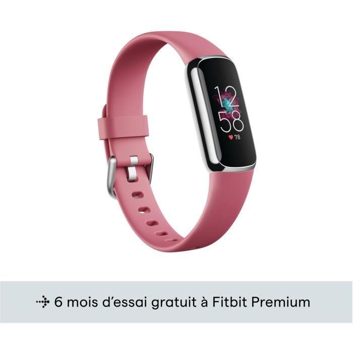 FITBIT Luxe - Bracelet d'activité - Acier inoxydable platine - Ordhidée