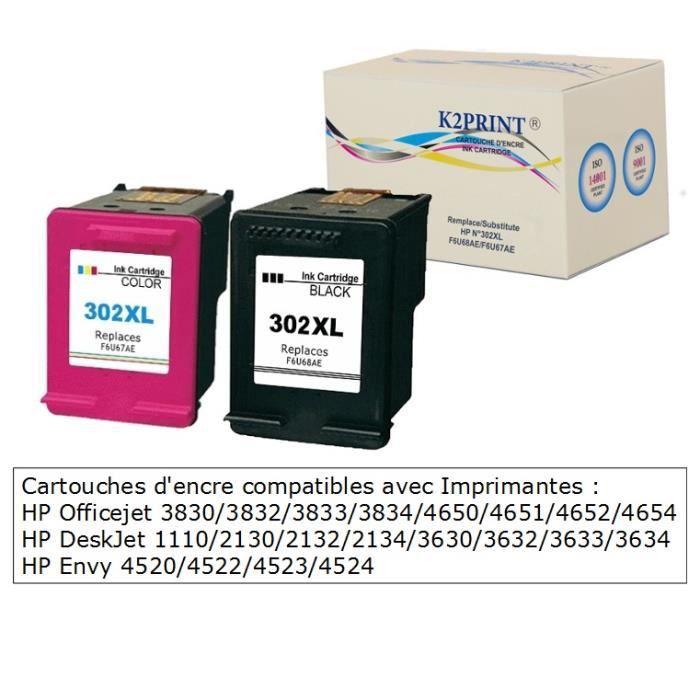 Cartouches encre compatibles grande capacité pour imprimante HP Envy 4523