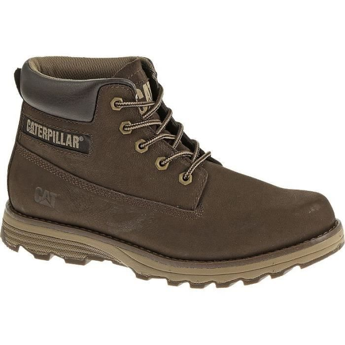 Caterpillar Bottillon Cuir Homme Marron