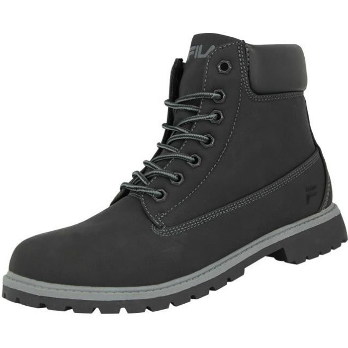 Fila MAVERICK MID Chaussures Mode Sneakers Homme Cuir Suede Noir