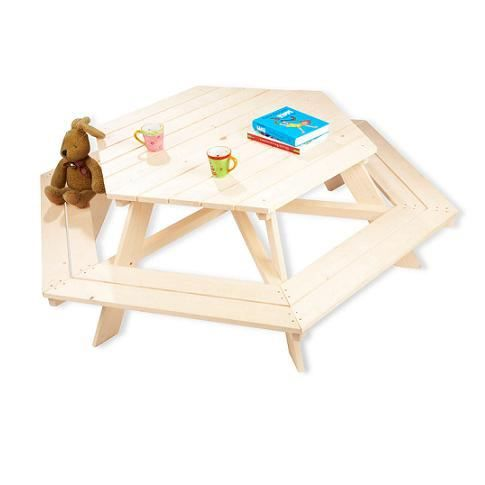 Table picnic Nicki hexagonale pour 6 enfants