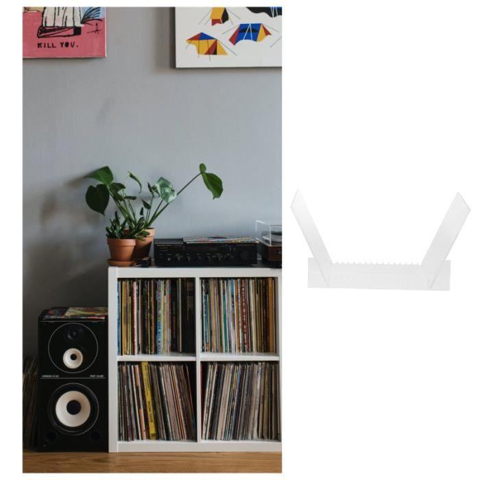 1PC Acrylique Storage Rack Book Stand Album Vinyl Enregistrer passerelle multimedia - lecteur multimedia stockage externe