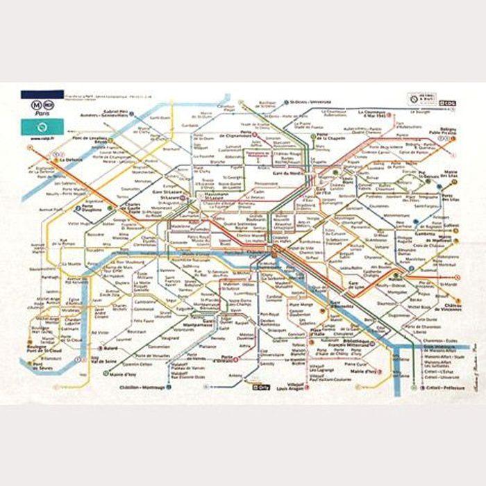 Torchon de cuisine RATP - Plan de Paris