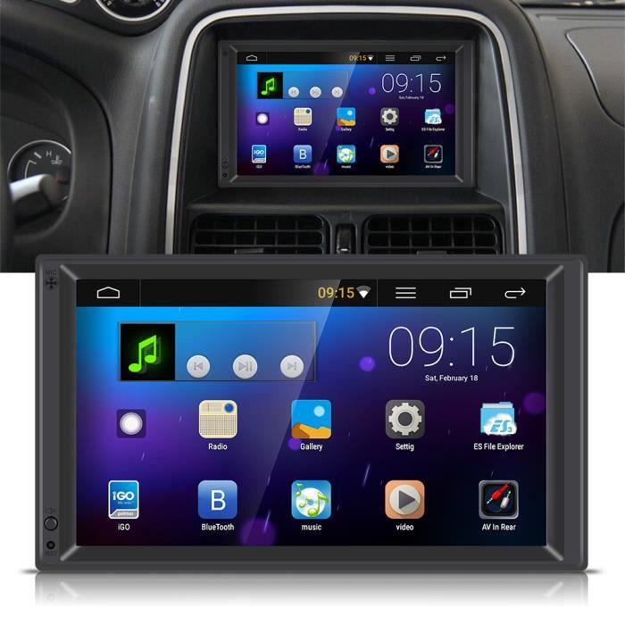 7 - Autoradio lecteur de voiture 2 Din Android 5.1 stéréo Radio Player MP5 avec GPS navigation multimédia BT WIFI AM - FM--Timequare