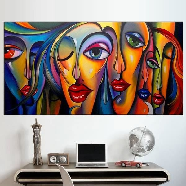 peinture visage femme moderne art peinture petit format aurlie bellon gallery of baise bureau. Black Bedroom Furniture Sets. Home Design Ideas
