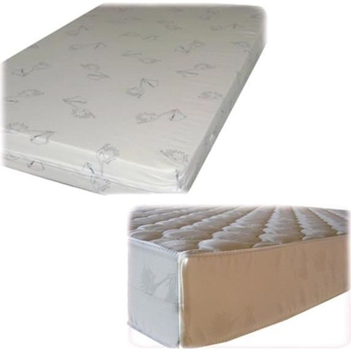 matelas lit b b 55x107 11cm blanc achat vente matelas. Black Bedroom Furniture Sets. Home Design Ideas