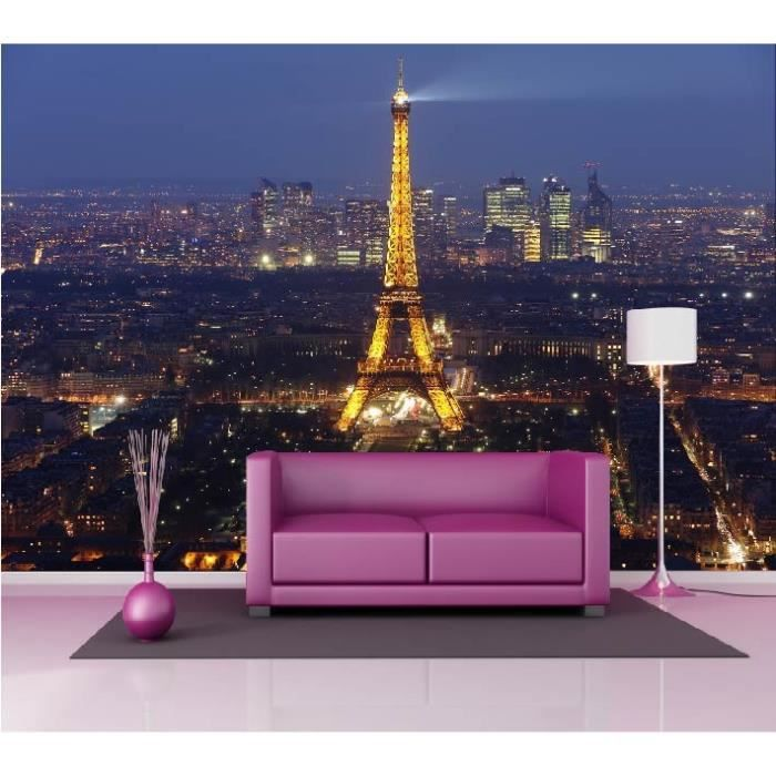 Pin stickers tour eiffel trompe loeil muraux izidek on pinterest - Stickers muraux paris ...