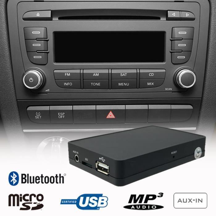 AMI MMI Interface Adaptateur Bluetooth 5.0 Musique Audio Media R/écepteur Compatible pour Audi A1 A3 A4 A5 A6 A7 A8 S3 S4 S5 S6 RS6 TT S8 Q5 Q7