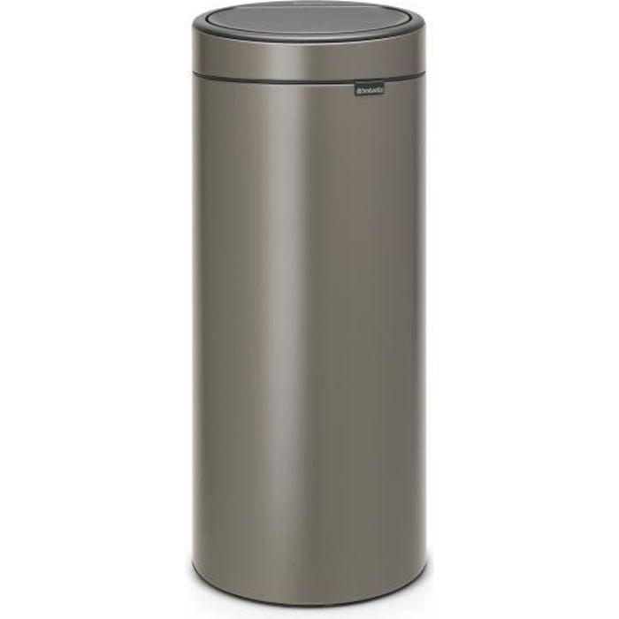 POUBELLE - CORBEILLE BRABANTIA Poubelle Touch Bin - 30L - Platinum