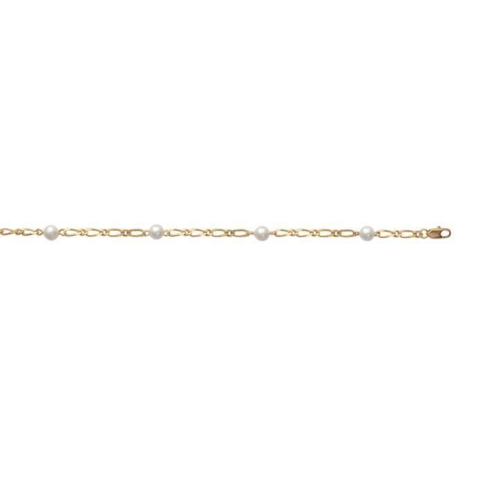 MARY JANE - Bracelet plaqué Or - Long:18cm - Larg:6mm - Femme - Boule - Perle