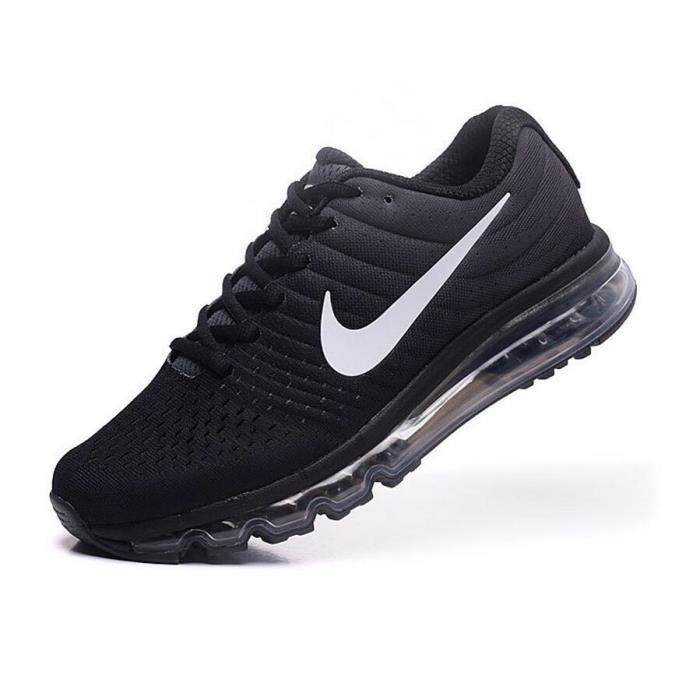femmes nike air max 2017 chaussures de running noir et blanc tu achat vente basket soldes. Black Bedroom Furniture Sets. Home Design Ideas