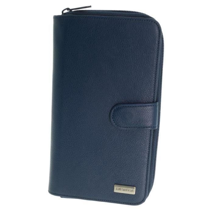 Portefeuille compagnon cuir ELEPHANT D OR porte cartes et porte monnaie 20 cm X 11 cm couleurs au choix