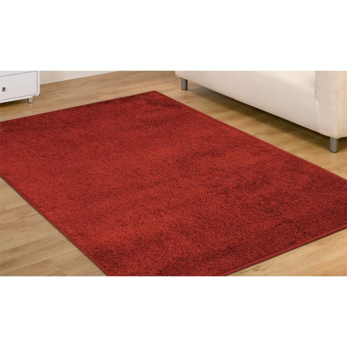 ad rosso cardinale 2 tapis shaggy cm 200x200 achat. Black Bedroom Furniture Sets. Home Design Ideas