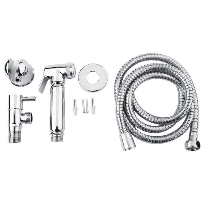 pulv/érisateur de bidet Pour lhygi/ène personnelle et le jet de WC de bassin Pulv/érisateur de toilette de bidet /à main Pulv/érisateur de bidet ensemble de 3 pi/èces