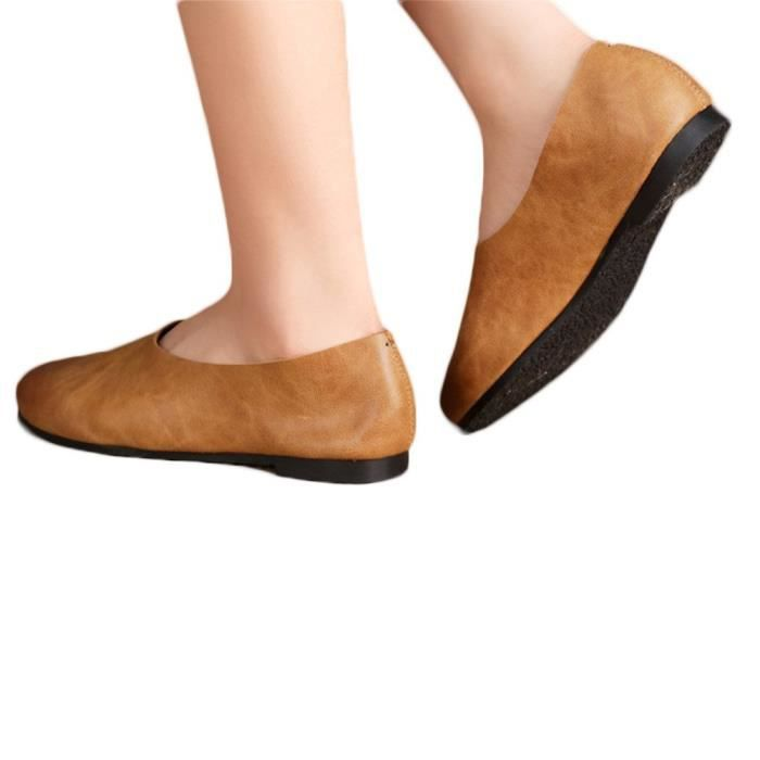 Chaussures en cuir Mocassins Slip-Ons W4KAO Taille-37