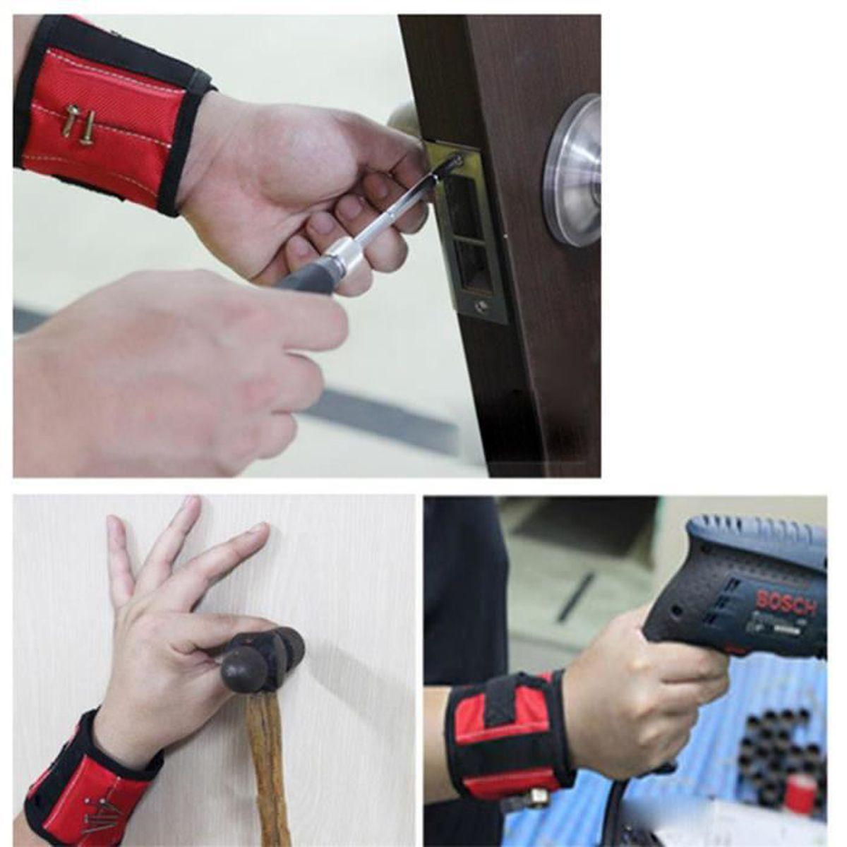 Forte Magnétique Bracelet Outillage Ceinture