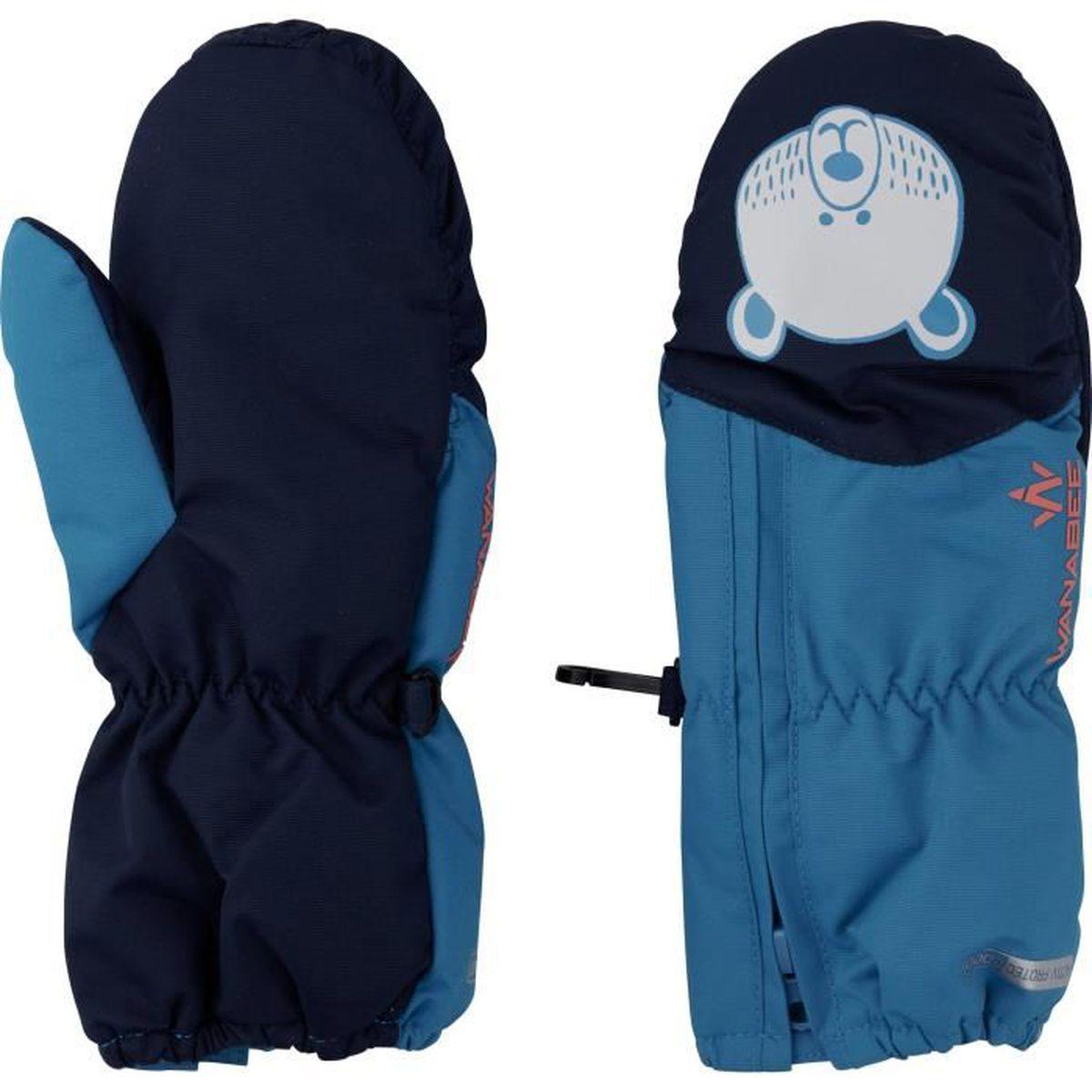 GANTS - MOUFLES DE SKI WANABEE Moufles de ski - Enfant garçon - Bleu