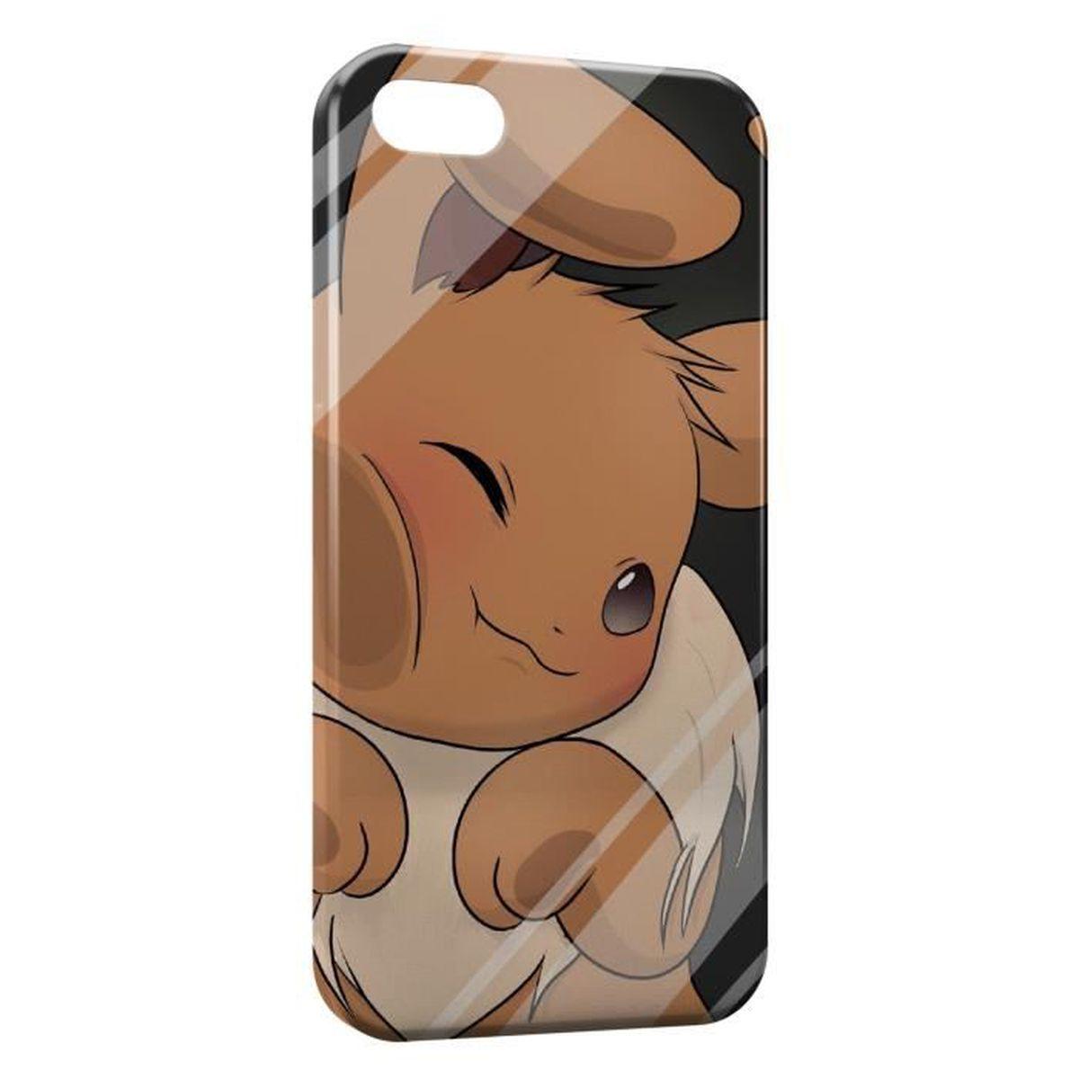 Coque iPhone 5 & 5S Evoli Pokemon Vitre Glace - Cdiscount Téléphonie
