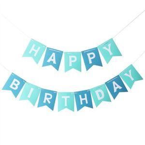 Glitz noir argent joyeux anniversaire suspendu string bunting bannière décoration 3.6m