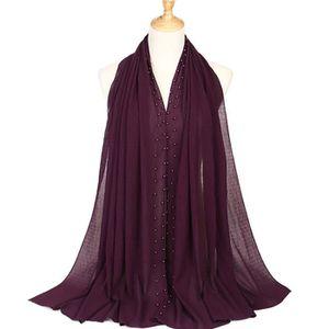 ECHARPE - FOULARD Femmes Head écharpe, instantanée Noir Hijab, prêt