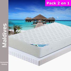 ENSEMBLE LITERIE Maldives - Pack Matelas + AltoFlex 140x190