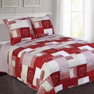 JETÉE DE LIT - BOUTIS couvre lit courchevel rouge