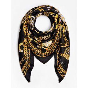 ECHARPE - FOULARD Guess - Grand foulard carré tendance femme en soie