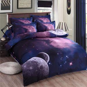HOUSSE DE COUETTE SEULE Ciel Galaxie Cosmos nuit modèle Reine Taille Ensem